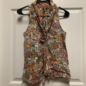 Old Navy Floral Blouse XS